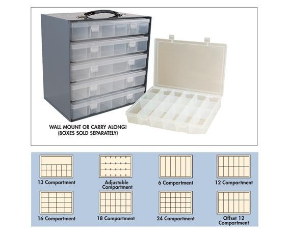 PLASTIC BOXES & STEEL RACKS