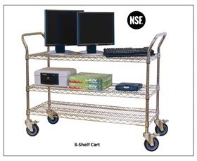 CHROME WIRE SERVICE CARTS